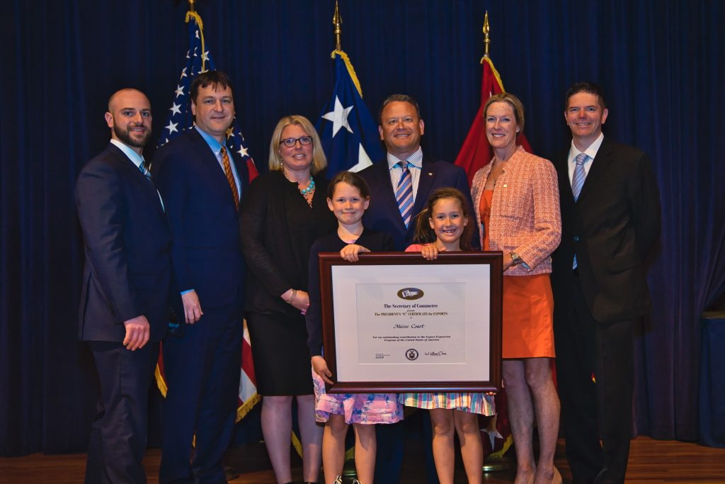 Maine Coast Awarded 2019 Presidents E Award for Exports