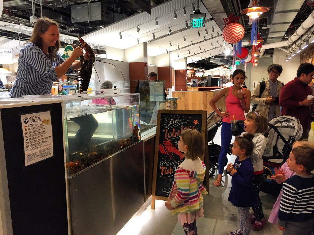 Lobster always draws a crowd of curious customers